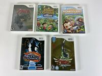 Nintendo Wii video game lot x5 / zelda skyward sword and more AS IS untested