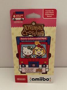 Nintendo Amiibo - Animal Crossing Sanrio Collaboration Pack - 6 Cards- NEW