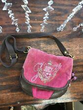 Juicy Couture Pink Brown Velour Shoulder Bag Purse cross body bag