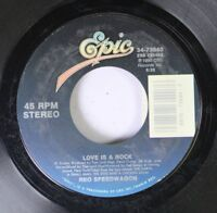 Rock 45 Reo Speedwagon - Love Is A Rock / Go For Broke On Epic (Trademark Of Cbs