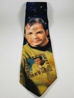 Neck TIE '94 vtg Star Trek Captain KIRK Beam Me Up Scotty William Shatner