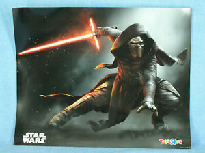 """Kylo Ren Toys R Us Star Wars The Force Awakens Poster Print, 16"""" x 20"""", NEW"""