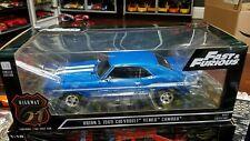 Highway 61 1/18 Brians 1969 Chevy yenko camaro Fast & Furious NIB