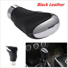 Universal Black Leather Car SUV Manual Automatic Knob Gear Shift Head Shifter