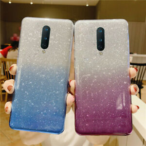 For Oneplus 8 7 Pro 7T 6T Glitter Bling ShockProof Soft Silicone TPU Case Cover