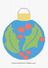 Crochet Patterns - BALL ORNAMENT Christmas afghan pattern