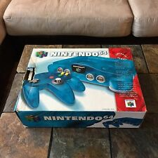 Nintendo 64 N64 Funtastic Ice Blue System Complete In Box CIB TESTED & WORKING!