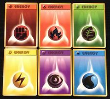 Complete JAPANESE Set Of 6 Original Energy Pokemon Cards MINT~NM NEW