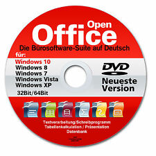 Open Office Premium PC CD-ROM Windows 7 8 10 Ufficio programma software grafica testo