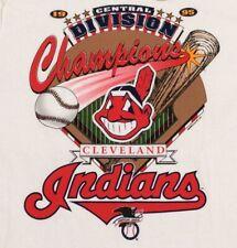 VTG Cleveland Indians 1995 Central Division Champs Graphic T-Shirt Men's Large