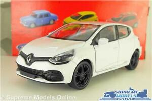 RENAULT CLIO RS MODEL CAR WHITE MK4 1:38 SCALE WELLY NEX OPENING PARTS K8