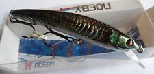 Noeby leurre pêche mer rivière 8cm 7g nage jusqu'à 0,8m vert reflet holo
