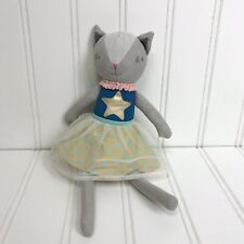 Pillowfort Cat Throw Pillow Princess Ballerina Dress Doll Stuffed Animal