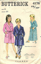 Butterick Sewing Pattern 4176, Child's Robe, Vintage 1960's, Size 2