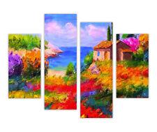"Grandes lienzos Pared Arte Beach House On Hill Pintura Al Óleo reimpresión 35 "" (90cm)"