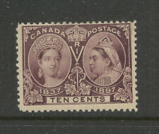 Canada    57   10 cent Victoria  Mint       catalog  $120.00             MS0223