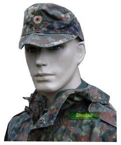 GERMAN ARMY BUNDESWEHR FIELD HAT CAP in FLECKTARN CAMO