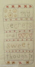 SECRETS & SWEET THOUGHTS - Embroidery Kit by DMC