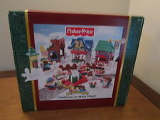 Fisher Price Little People Christmas on Main Street Town Box Set Holiday Sleigh