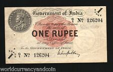 INDIA 1 RUPEE P1 G 1917 KING GEORGE 5 FIRST NOTE RARE UK BRITISH MONEY BANK NOTE