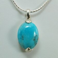 Boma Genuine Turquoise Necklace .925 Sterling Silver New ss