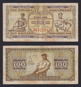 Jugoslavia - 100 dinara 1946  BB/VF  C-08