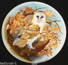 THE WISE OWL / Die Weise Eule ~ 1. Coalport Bradex Sammelteller = BARN OWL