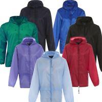 Kids Boys Girls Kagool Showerproof Rain Coat Jacket Mac Cagoule Kagoul Ages 4-16