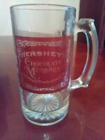Vintage Hershey Chocolate Drinking Glass With Handle