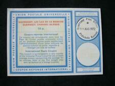GUERNSEY INTERNATIONAL REPLY COUPON USED