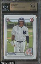 2020 Bowman Jasson Dominguez New York Yankees RC Rookie BGS 9.5 GEM MINT