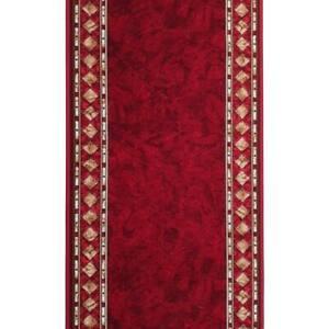 Hallway Runner Carpet Rug Red 67cm Rubber Backed Cheops Per Metre Floor Mat New