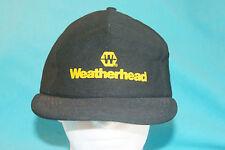 VINTAGE WEATHERHEAD BLACK/GOLD SNAP BACK HAT