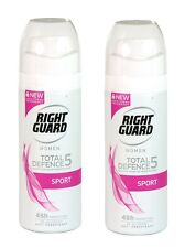 2 X Right Guard Women Total Defence 5 SPORT 48 Hours 150ml