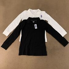 Lot of 2 Old Navy Girls Size Small (6-7) Uniform Long-Sleeve Pique Polos Nwt