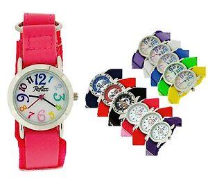 Reflex Girls Boys childrens Easy Fasten Strap Watch christmas Gift For Kids