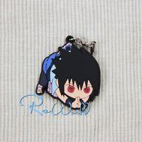 Japan Anime Naruto Sasuke Uchiha Keychain Rubber Strap Phone Charm Keyring Gift