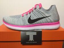 Nike Free Flyknit RN (GS) ~ 834363 106 ~ Giovani Taglia UK 3.5