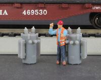 HO Scale 8-Pack Railroad Pole Transformer Model Railroad Freight Flatcar Load
