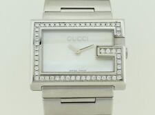 Gucci G 100L Quartz Steel Lady Dial Mother Pearl Diamond