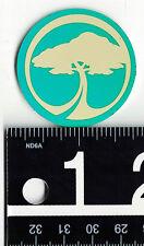 ARBOR COLLECTIVE STICKER Arbor Skate Snow Green/Beige 1.75 in Round Tree Decal