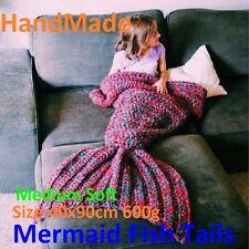 Mermaid Fish Tails Fleece Blankets *Handmade* RED Size:40x90cm 600g Good Quality