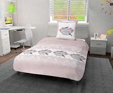Draps roses pour le lit en 100% coton, 200 cm x 200 cm