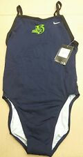 Nike TFSS0006 Foil Skin Cut-Out Tank Team Swimsuit Girl's Size 32 NWT $78