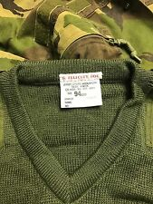 British army green 94cm v neck jersey/ jumper marines commando sas paint balling