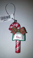 "GANZ CANDY CANE PERSONALIZED CHRISTMAS ORNAMENT ""DANA"""