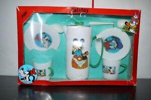 80'S VINTAGE DISNEY GREEK PLAGGON PLAST PLASTIC TOY TEA SET MIB