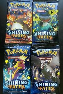 1x Pokemon Shining Fates Booster Pack (1 PACK) Shiny - BRAND NEW FACTORY SEALED