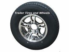 """JGK 185/80R13 LRD 8 PR Radial Trailer Tire on 13"""" 5 Lug Aluminum Trailer Wheel"""