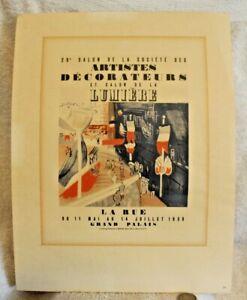 """RAOUL DUFY Artistes Decorateurs Salon de la Lumiere 12.5"""" x 9.25"""" Lithograph"""